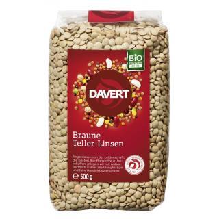 Braune Teller-Linsen, 500g