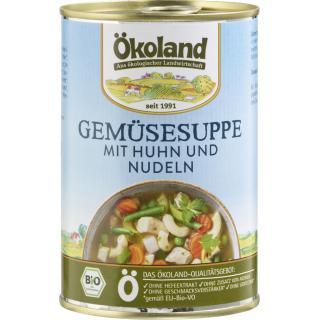 Gemüsesuppe mit Huhn, 400 ml