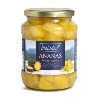 Ananasstücke im Glas 720 ml