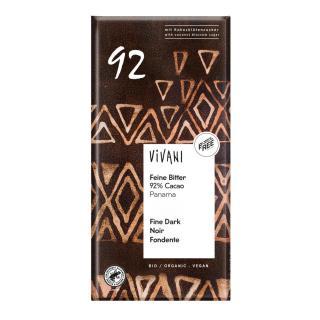 Feine Bitter 92 % Cacao,  80g
