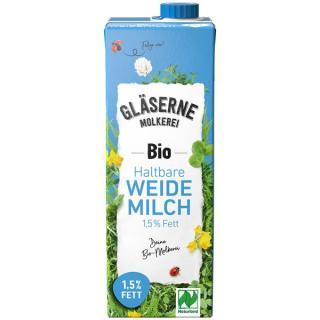 Milch H-Milch, fettarm 1,5% Gläserne