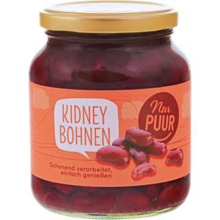 Kidney Bohnen im Glas, nur PUUR,350g