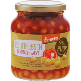 Kichererbsen in Tomatensauce