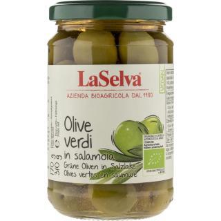 Oliven grün mit Steinen, 310g Glas