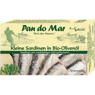 Sardinen klein in Bio Olivenöl 120 g